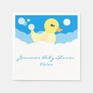Serviettes En Papier Baby shower mignon en caoutchouc de garçon mignon
