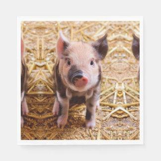 Serviettes En Papier Bébés mignons d'animaux de ferme de porcelet de