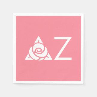 Serviettes En Papier Blanc rose d'icône de Zeta de delta