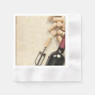 Serviettes En Papier Bouteille de vin