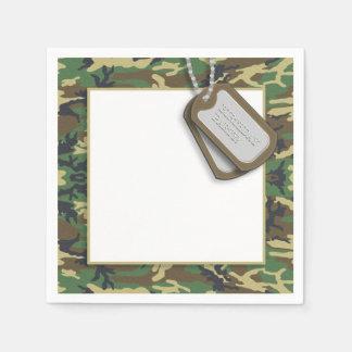 Serviettes En Papier Camouflage/fête d'anniversaire thème de Camo