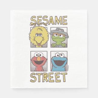 Serviettes En Papier Caractère de StreetVintage de sésame comique