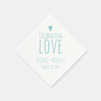 Serviettes En Papier Célébration de l'amour | épousant
