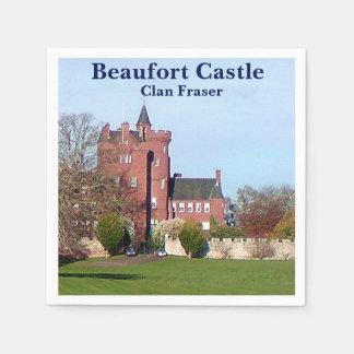 Serviettes En Papier Château de Beaufort - clan Fraser