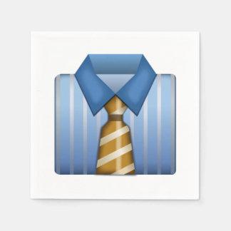 Serviettes En Papier Chemise d'affaires avec la cravate - Emoji
