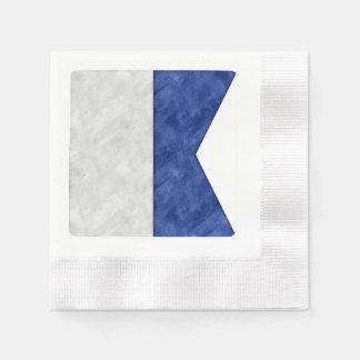 Serviettes En Papier Choisissez de 26 drapeaux maritimes nautiques