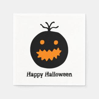 Serviettes En Papier Citrouille mignon de Halloween
