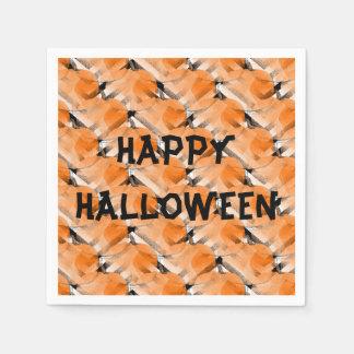 Serviettes en papier cocktail Citrouille Halloween