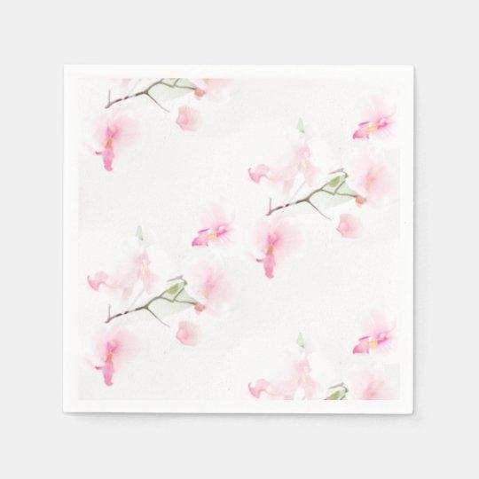 Serviettes en papier cocktail Pattern Orchidée