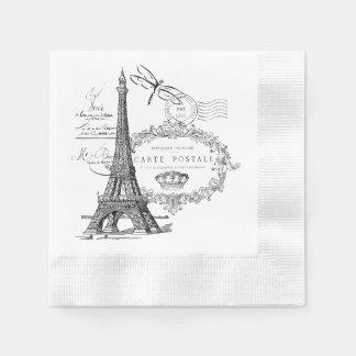 Serviettes En Papier Collage de Tour Eiffel