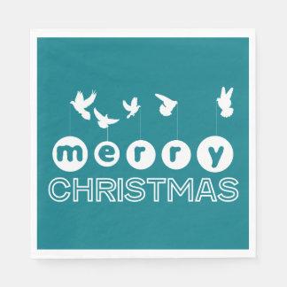 Serviettes En Papier Colombes de Joyeux Noël