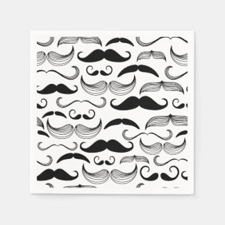 Serviettes En Papier Conception drôle de moustache