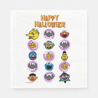Serviettes En Papier Copains de Sesame Street - Halloween heureux !