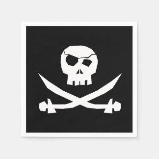 Serviettes En Papier Crâne de pirate