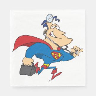 Serviettes En Papier Docteur serviettes de papier de super héros