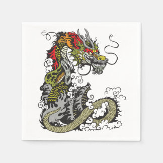 Serviettes En Papier dragon chinois