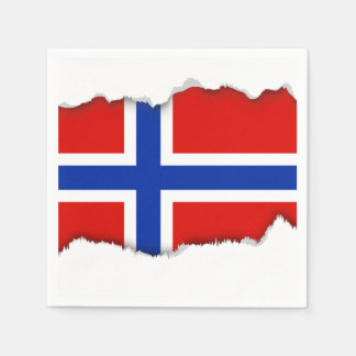 Serviettes En Papier Drapeau de la Norvège