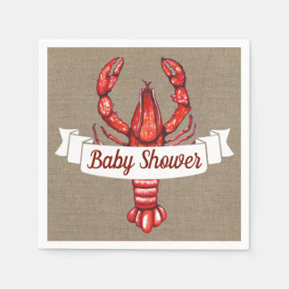 Serviettes En Papier Écrevisses de Cajun et baby shower de toile de