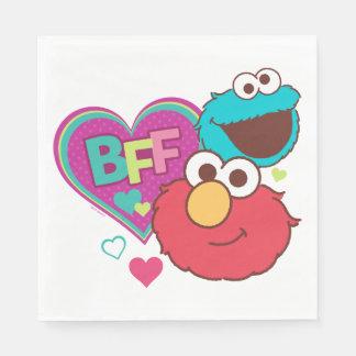 Serviettes En Papier Elmo et monstre de biscuit - BFF