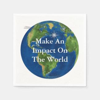 Serviettes En Papier Faites un impact