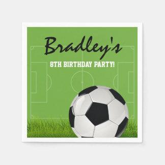 Serviettes En Papier Fête d'anniversaire du football du football