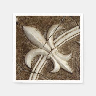 Serviettes En Papier Fleur de Lis Napkin