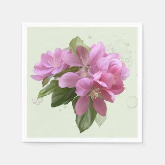 Serviettes En Papier Fleur rose