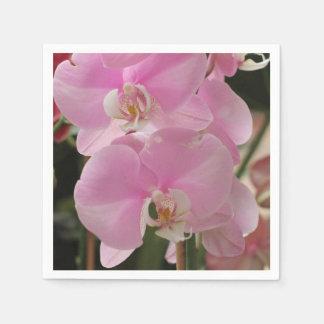 Serviettes En Papier Fleurs roses d'orchidée