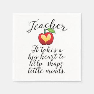 Serviettes En Papier Grand coeur à aider à former le petit professeur