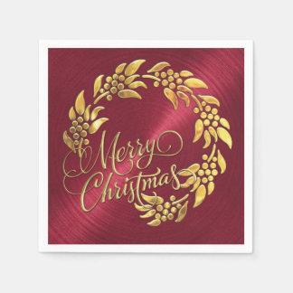 Serviettes En Papier Guirlande de Joyeux Noël