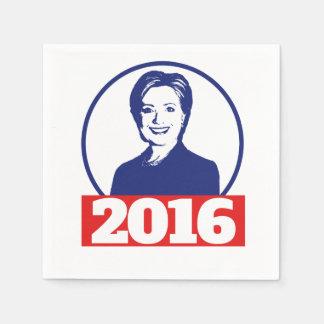 Serviettes En Papier Hillary Clinton 2016