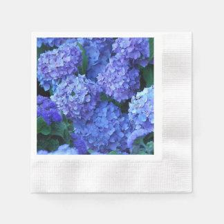 Serviettes En Papier Hortensias bleus floraux
