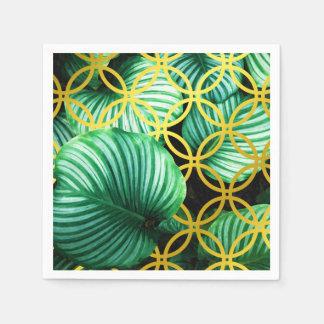 Serviettes En Papier Illustration moderne tropicale géométrique de