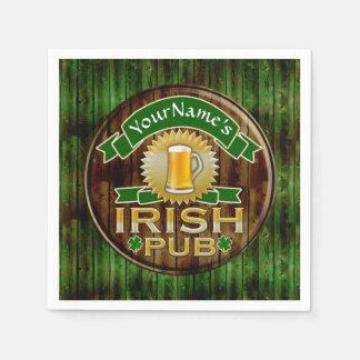 Serviettes En Papier Jour de la Saint Patrick irlandais de signe de Pub