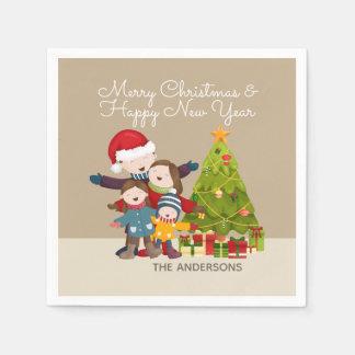 Serviettes En Papier Joyeuse serviette personnalisée de Noël | de