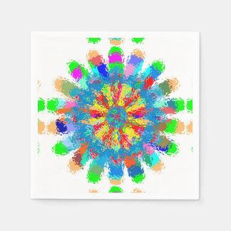 Serviettes En Papier La serviette de papier fleurit l'ART de guirlandes