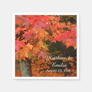 Serviettes En Papier L'automne d'automne laisse des serviettes de