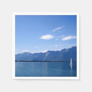 Serviettes En Papier Le beau Lac Léman