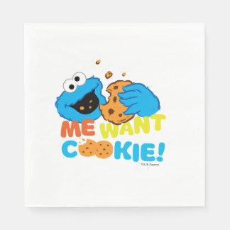 Serviettes En Papier Le biscuit veut le biscuit