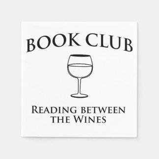 Serviettes En Papier Lecture de club de lecture entre les vins