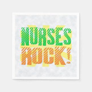 Serviettes En Papier Les infirmières basculent, infirmière orange/verte