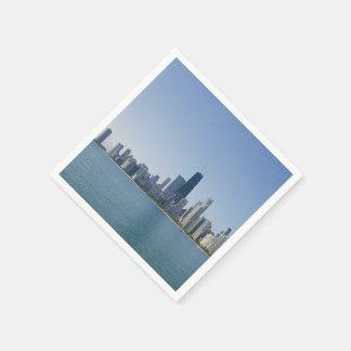 Serviettes En Papier L'horizon de Chicago