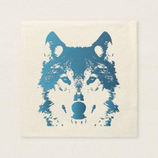 Serviettes En Papier Loup de bleu glacier d'illustration