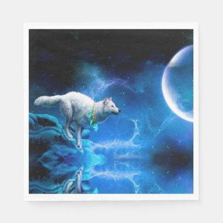 Serviettes En Papier Loup et lune