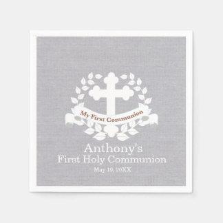Serviettes En Papier Ma serviette personnalisée première par sainte