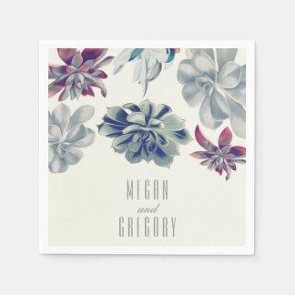 Serviettes En Papier Mariage floral de jardin de Succulents