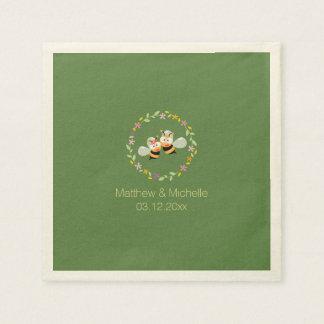 Serviettes En Papier Mariage floral lunatique de guirlande de région