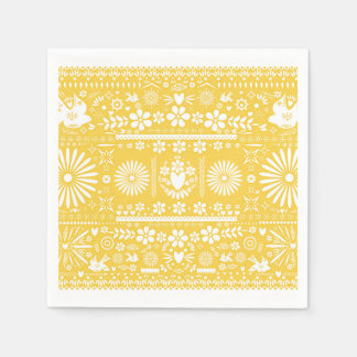Serviettes En Papier Mariage jaune de mariage de livre blanc de Picado