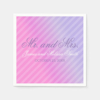 Serviettes En Papier Mariage personnalisé par lilas élégant de rose en