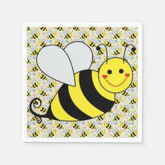 Serviettes En Papier Mignon gaffez l'abeille avec le motif